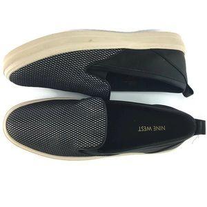 Nine West Sneakers Silver/Black Size 9.5